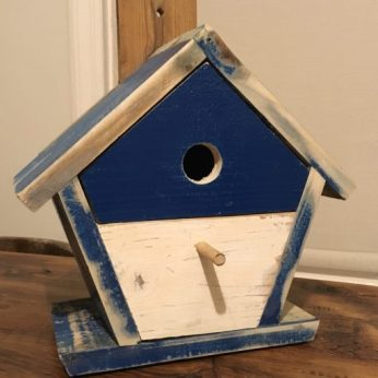 Reclaimed wood bird nesting box