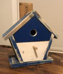 Reclaimed wood bird box