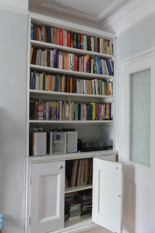 Reclaimed wood Victorian book case