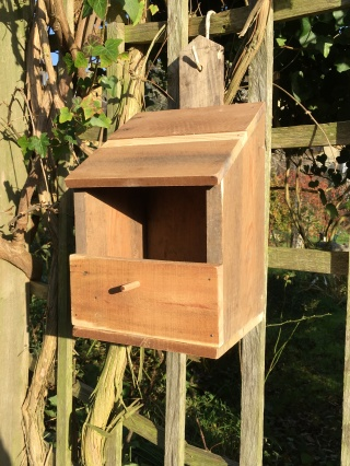 Wood pallet robin's nestbox