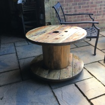 Cable reel garden table