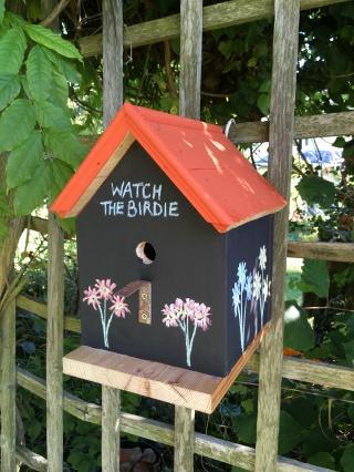 Black board bird box